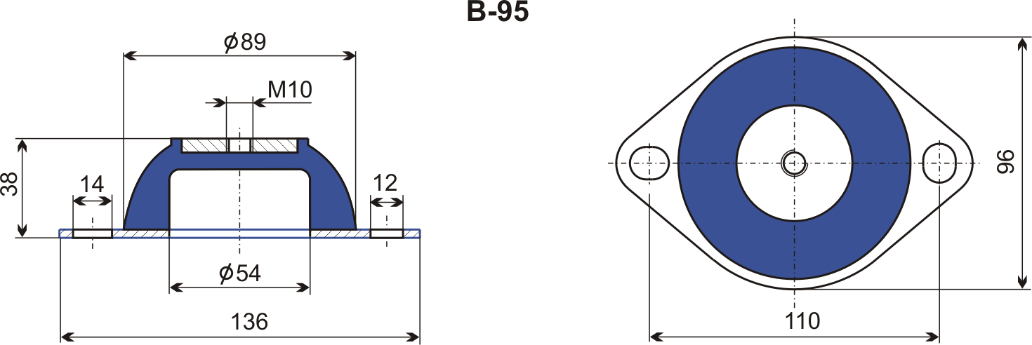 wibroizolator typu B Egana