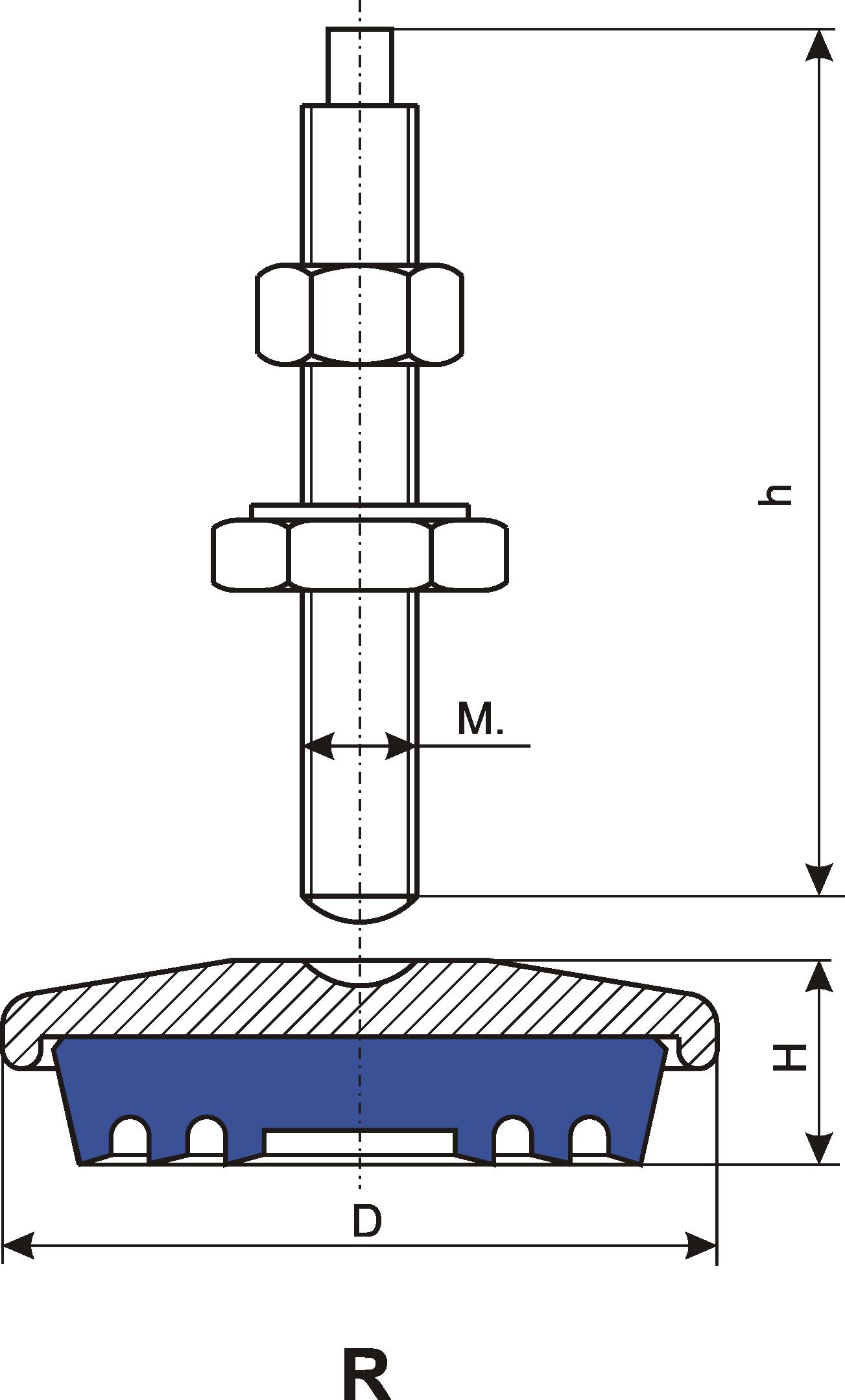 wibroizolator talerzowy F,R Egana
